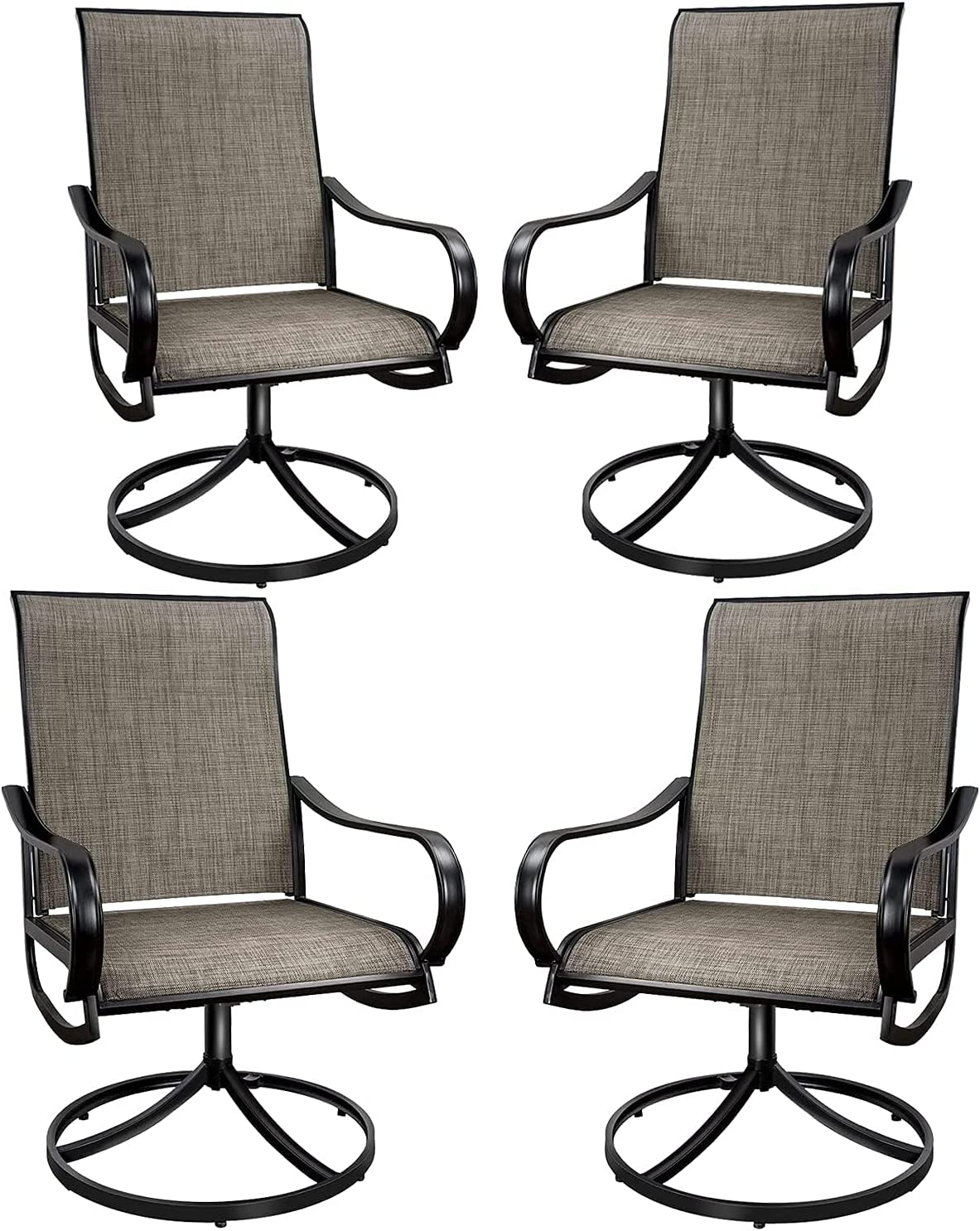 MEOOEM Patio Dining Chairs 4PCS Max 82% OFF Outdoor Rocker Swivel Factory outlet wit