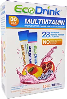 Eco Drink Complete Multivitamin 30 Packets(15 Blueberry Pomegranate, 15 Peach Mango)