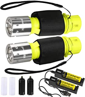 LED Taschenlampe IPX8 Super Wasserdichte Tauchen Taschenlampe, 1100 Lumen LED Tauchlampe..