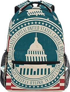 DEZIRO - Mochilas de estilo vintage con diseño de capital de EE. UU.