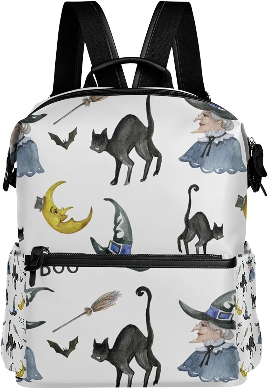 LORVIES Halloween Witch School Rucksack Travel Backpack