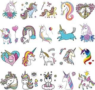 480782d7db87c St.Mandyu 20 Pcs Non Toxic Waterproof Cartoon Rainbow Unicorn Temporary  Tattoos Sticker for Kids