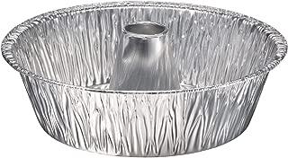 Pinkada (10 Pack) Bundt Cake Pan Disposable Aluminum Foil Angel Round Cake Tin 10