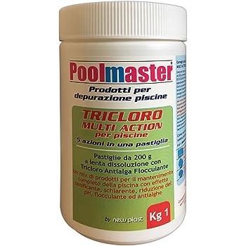 5 kg TRICLORO PASTIGLIE POOLMASTER trattamento acqua piscine 2916 Art