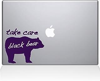 "The Decal Guru Take Care Black Bear Macbook Decal Vinyl Sticker - 15"" Macbook Pro (2015 & older) - Lavender (1189-MAC-15P-..."
