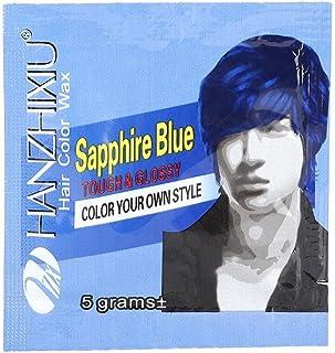染料ワックスマッドヘアカラークリーム、ヘアカラートリートメント、使い捨てのヘアダイ(青)