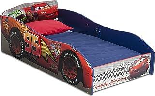 Cama De Madera para Niños Tipo Carro Fácil Instalación Cars De Disney Pixar