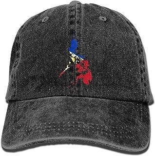 Philippines Flag Map Denim Hat Adjustable Mens Plain Baseball Hat