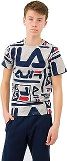 قميص بأكمام قصيرة مطبوع عليه شعار Fila للأولاد