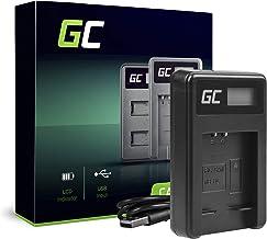 Green Cell® CB-2LD CB-2LF Cargador para Canon NB-11L Batería y PowerShot A2300 IS A2400 IS A3400 IS A3500 IS SX400 SX410 SX420 IS 9 Cámaras (2.5W 4.2V 0.6A Negro)