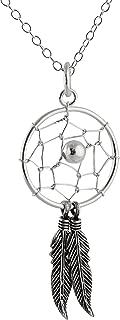 Sterling Silver Dream Catcher Pendant Necklace, 18