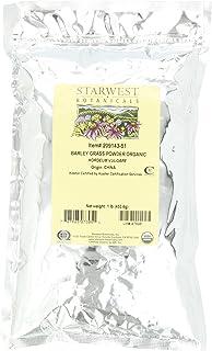 Starwest Botanicals Organic Barley Grass Powder, 1-pound Bags (Pack of 2)