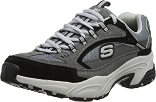 Skechers Stamina Cross Road Womens Fashion Trainers in Charcoal Black - 9 US
