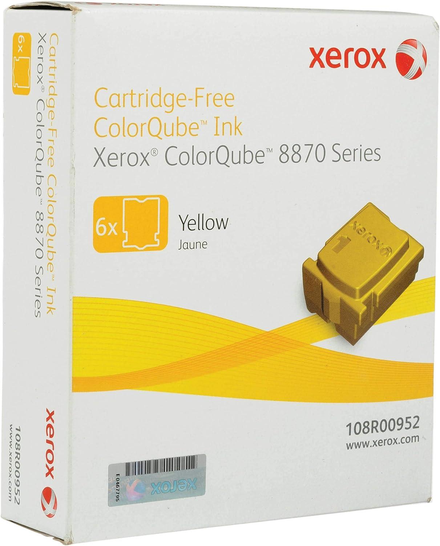 Xerox Yellow Solid Ink, 6 Sticks/Box, Total Box Yield 17300 (108R00952)