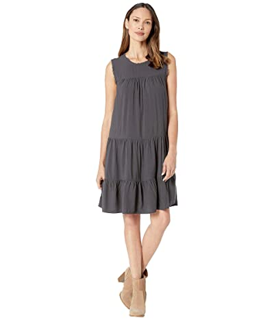 Dylan by True Grit Vintage Washed Sleeveless Ruffle Dress (Carbon) Women