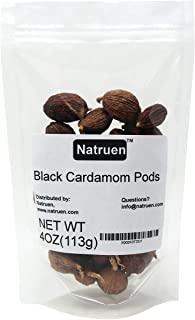 Natruen Chinese Black Cardamom Pods Whole(Tsao Ko) 4oz, Approx 35 Pods, Cao Guo, All Natural Non-GMO Spice