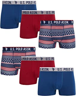 U.S. Polo Assn. Men's Cotton Stretch Trunk Underwear with Comfort Pouch (6 Pack)