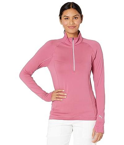 PUMA Golf Rotation 1/4 Zip (Rose Wine) Women
