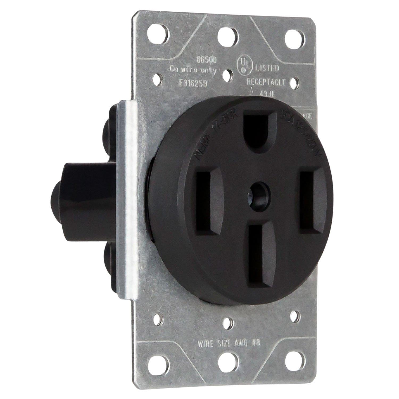 50 amp rv receptacle amazon com rh amazon com 50 Amp RV Plug Configuration 50 Amp RV Receptacle Wiring-Diagram