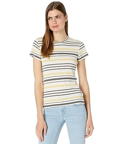 Three Dots 100% Cotton Heritage Knit Short Sleeve Stripe Crew
