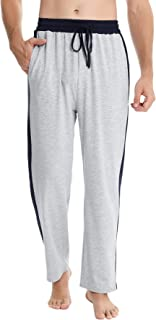 Men's Lounge Pants Long Pyjama Bottoms Cotton PJ Bottom Casual Loungewear Pajama Trousers