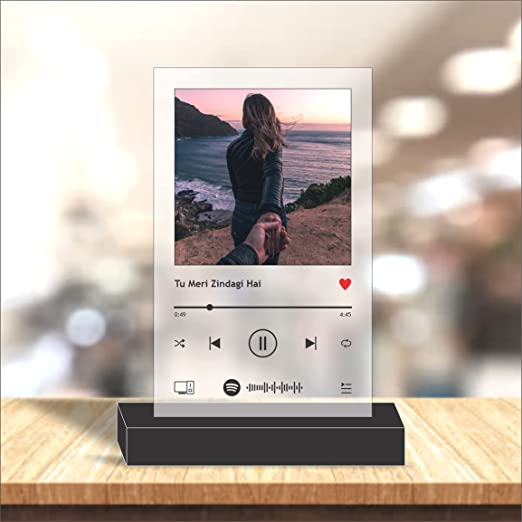 Capital Graphics Customized Photo Printed Musical Plaque, Personalized Spotify Plaque