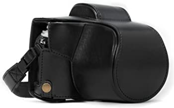 MegaGear MG367 Olympus OM-D E-M10 Mark II, E-M10 (14-42mm) Ever Ready Leather Camera Case and Strap - Black