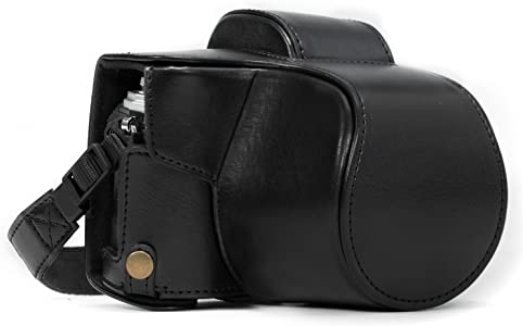 MegaGear Ever Ready Leather Camera Case compatible with Olympus OM-D E...