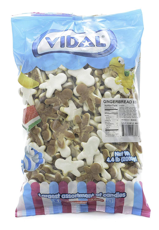 Vidal Christmas Gingerbread Man Gummi Candy, 4.4 Pounds Bulk Bag