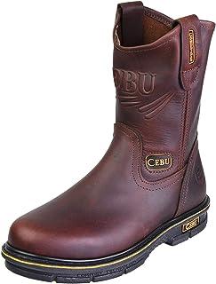 Men's Steel Toe Work Boots, for Industrial, Construction,...