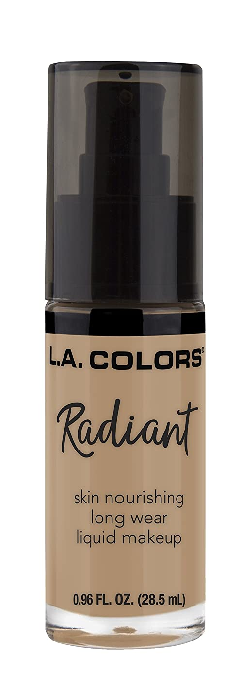 オッズ苦難透明にL.A. COLORS Radiant Liquid Makeup - Medium Beige (並行輸入品)