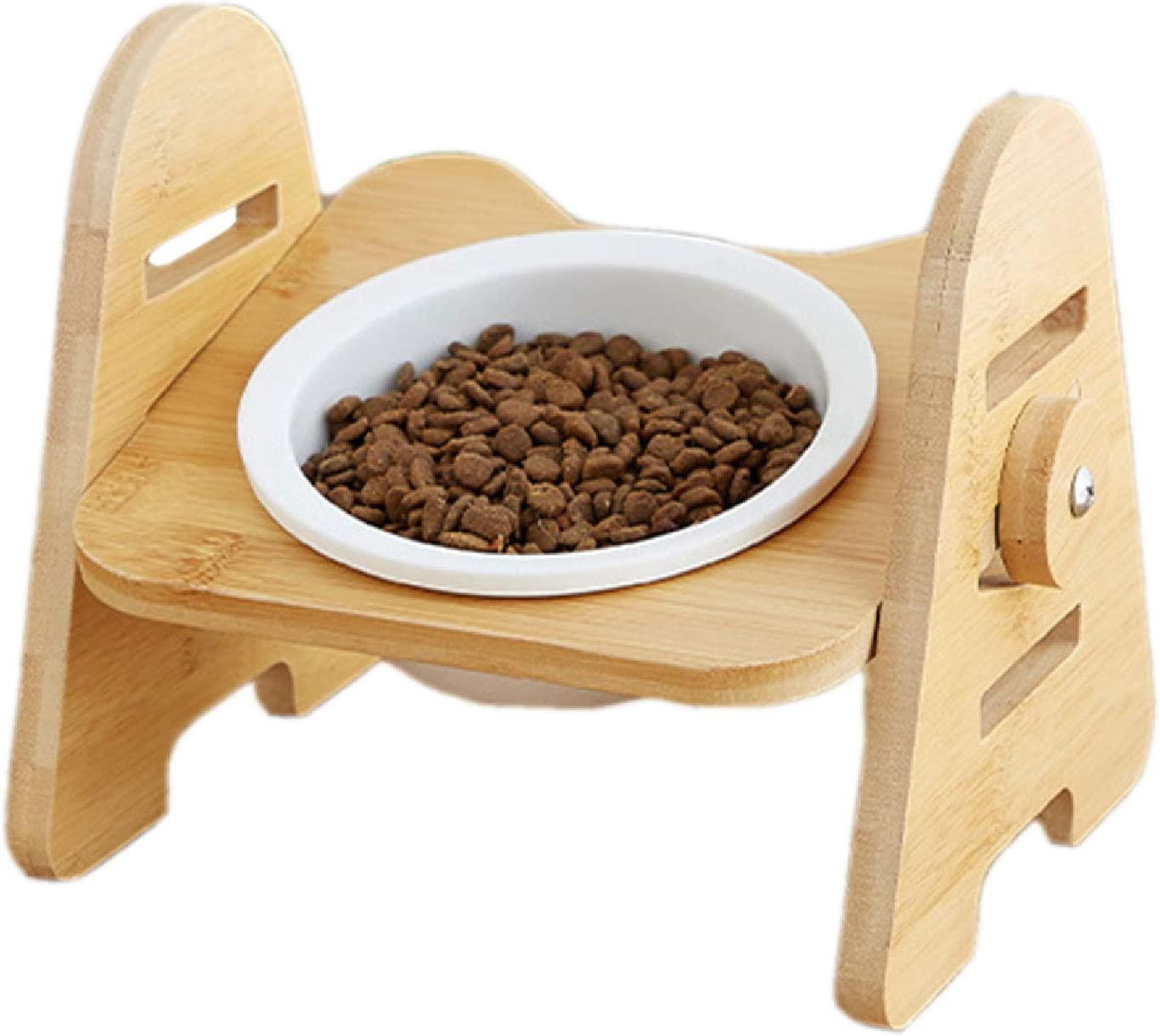 JFF Nashville-Davidson Mall Elevated Dogs and Cats Feeder Excellent Raised Stand with Bowl Single