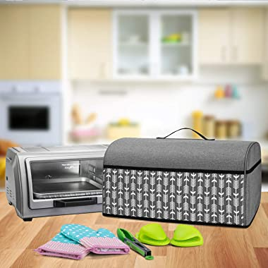 Yarwo Toaster Oven Cover Compatible with Hamilton Beach Countertop Toaster Oven 6 Slice, Heavy Duty Dust Cover with Pockets a