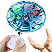gootrades Hand Operated Mini Drone for Kids with Remote Control, Flying Fairy Toys, USB Rechargeable UFO Drone for Boys an...