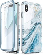 i-Blason Cosmo Series Designed for iPhone Xs Max Case 2018 Release, Full-Body Bumper Case with Built-in Screen Protector, Blue, 6.5