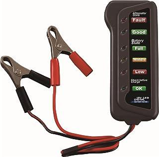 Cartman KFZ Batterietester 12 V 6 LED Leuchten Digitaler Lichtmaschinen Tester, Multifunktions Tester für Auto  und Motorrad Lichtmaschinen