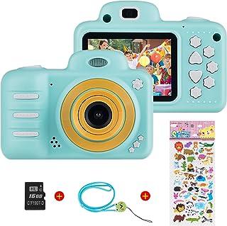 Vannico Camara Fotos Camara para Niños Cámaras de Video para niños Cámara Digital 8MP 1080P HD Juguetes para niña de 3-10 años con Tarjeta de 16GB TF (Azul)