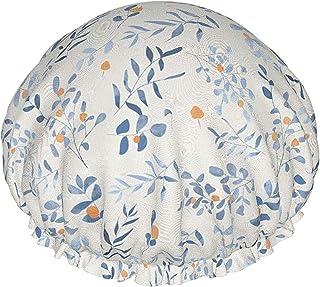 Niebieski kwiat świeżość abstrakcyjna wodoodporna czapka prysznicowa z elastycznym obszyciem odwracalna konstrukcja do pry...