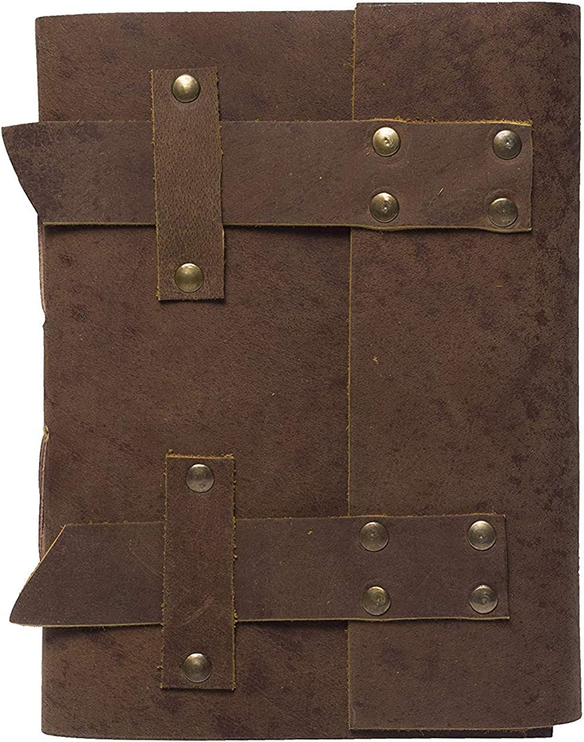 PRASTARA Handmade Owl Embossed Leather Goat Journal Pocket Style color 7x5 Blank Pages Tanned color (7x1.5x5, Umber)