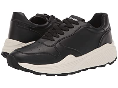 Steve Madden Sardan Sneaker (Black Leather) Men