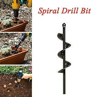 Neborn Reemplazo Broca Home Garden Tool Eléctrico Inalámbrico DIY Granja Siembra Auger Excavación Espiral Jardín Accesorios size 4 * 45 cm
