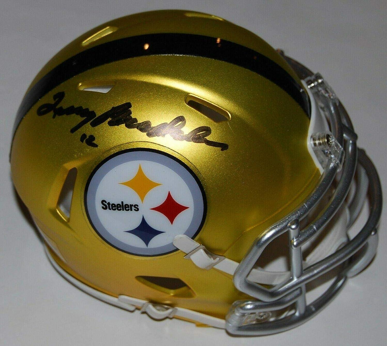 Autographed Terry Bradshaw HelmetBlaze Mini W COAAutographed NFL Helmets