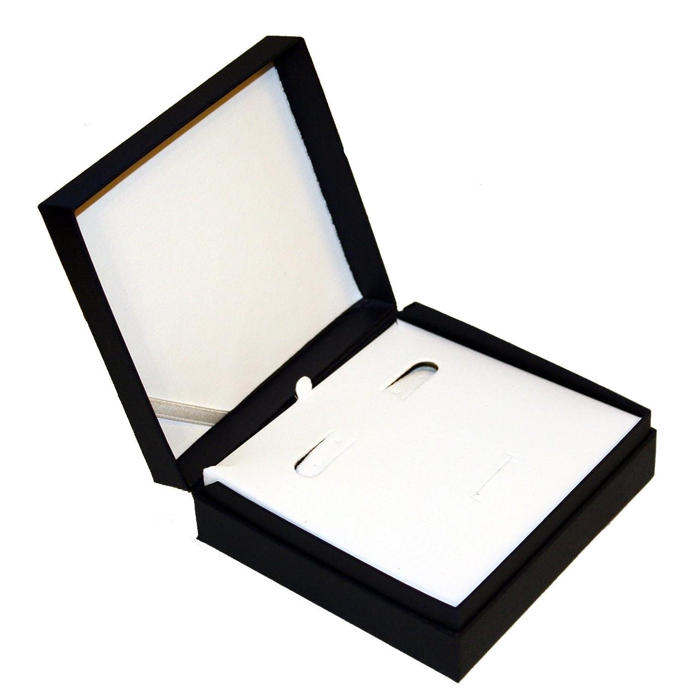 Matte Black Earring/Pendant Display Gift Box, Hinged Lid Insert 4.50