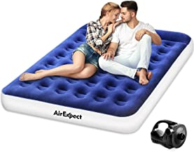 Air Mattress Camping AirBed Queen Size - AirExpect Leak Proof Inflatable Mattress with Rechargeable Electric Pump Built-in Pillow for Guest,Camping,Hiking, Height 9
