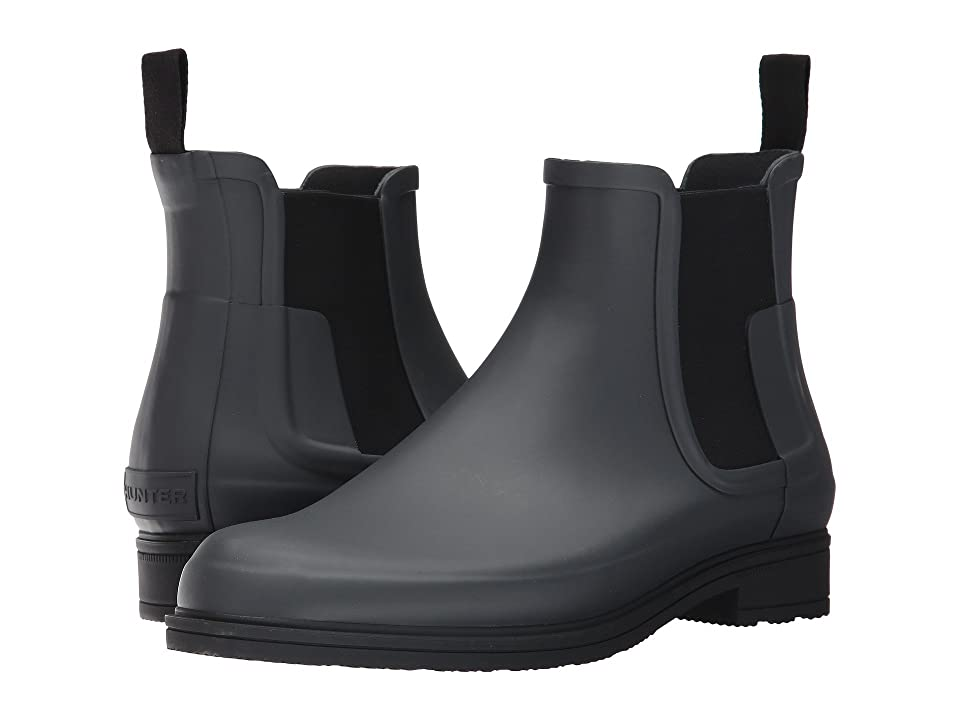 Hunter Original Refined Dark Sole Chelsea Boots (Dark Slate/Black) Men