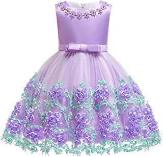 Baby Girls Flower Dress Wedding Party Toddler Dres Birthday Special Occasion Girls Dress