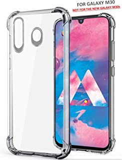 WOW Imagine Soft Jel Ultra Thin 0.3mm Full Protection Clear TPU Back Case Cover for Samsung Galaxy M30 M 30 (Compatible ONLY with Galaxy M30 - NOT for The Galaxy M30s) (Transparent)