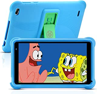 qunyiCO 7 inch Kids Tablet 32GB Android 10.0 WiFi Camera Bluetooth 2GB RAM Eye Protection HD IPS Touch Screen 1024*600 Blu...