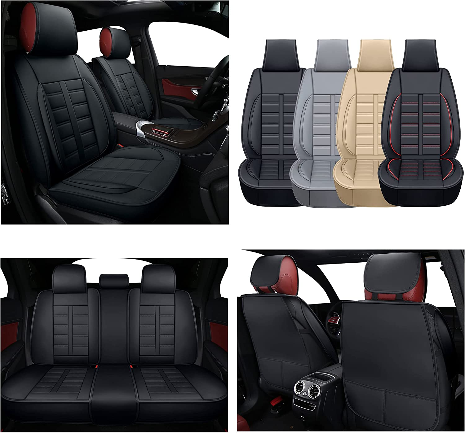TKAAKT Car Seat Covers Faux Vehicle 5 67% OFF of fixed price ☆ very popular Cush Automotive Leatherette