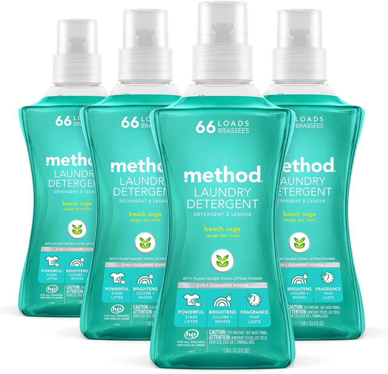 Method Liquid Max 48% Award-winning store OFF Laundry Detergent + Hypoallergenic Biodegradable